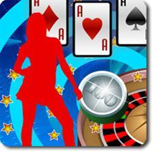 silhouette femme cartes jetons roulette